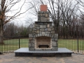 Outdoor fireplace installation in Baltimore