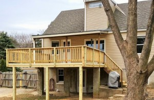 New Wood Deck in Baltimore, Maryland
