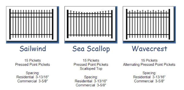 Aluminum Fence Types in Maryland