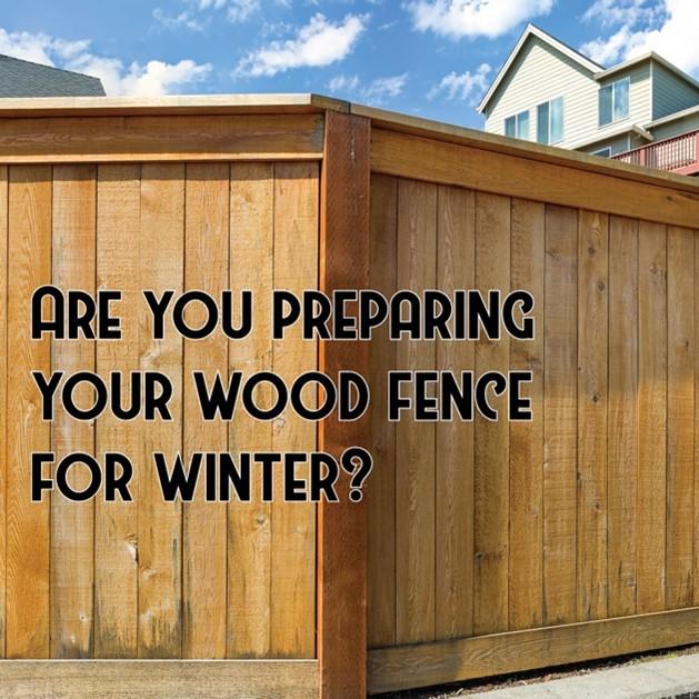 Wood fence winter ready